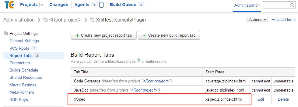 XmlTest setting up XSpec report tab