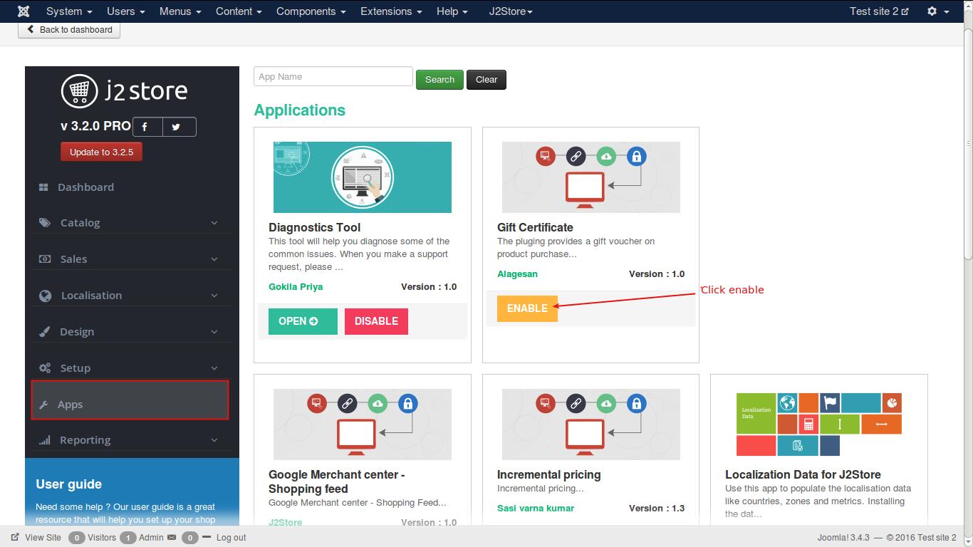 Dashboard-enabling the app