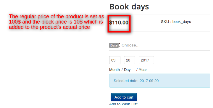 booking pricing front