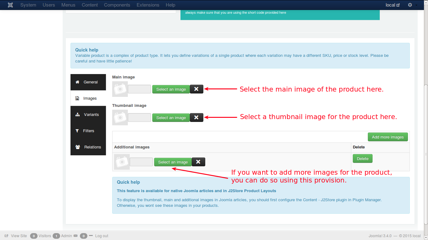 Choosing images