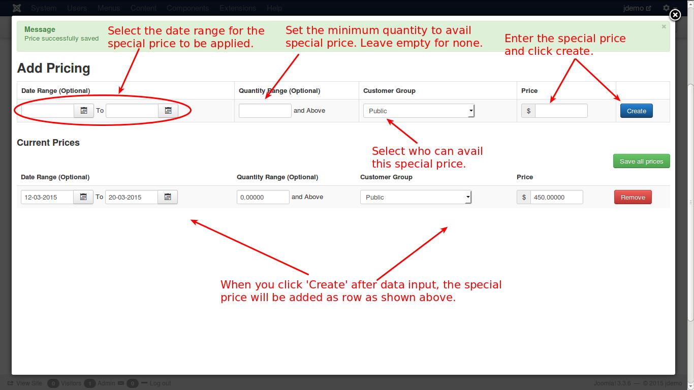Adding an advanced pricing
