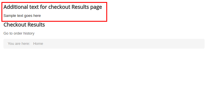 Checkout results frontend