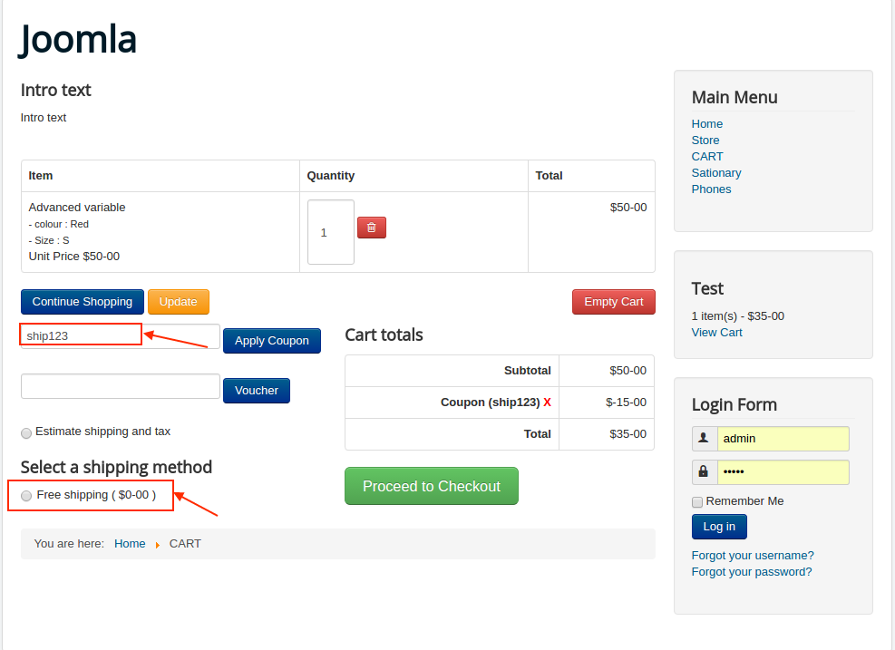 How To Create Coupons For Free Shipping J2store Documentation