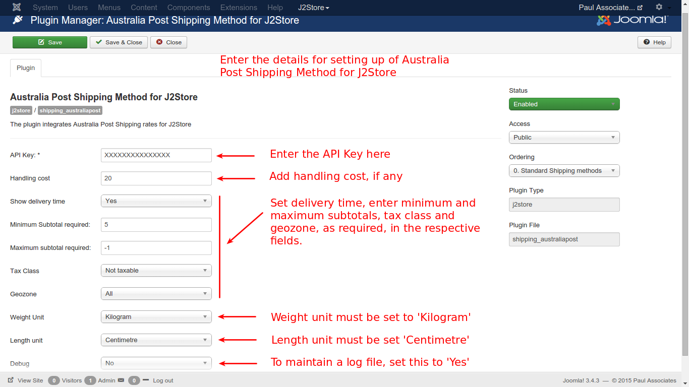 Australia post shipping configuration