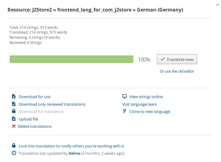 Transifex german resource