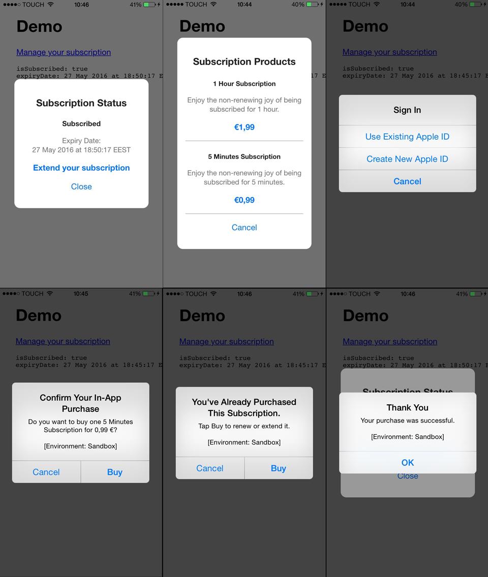 iOS Non-Renewing Subscription with Cordova