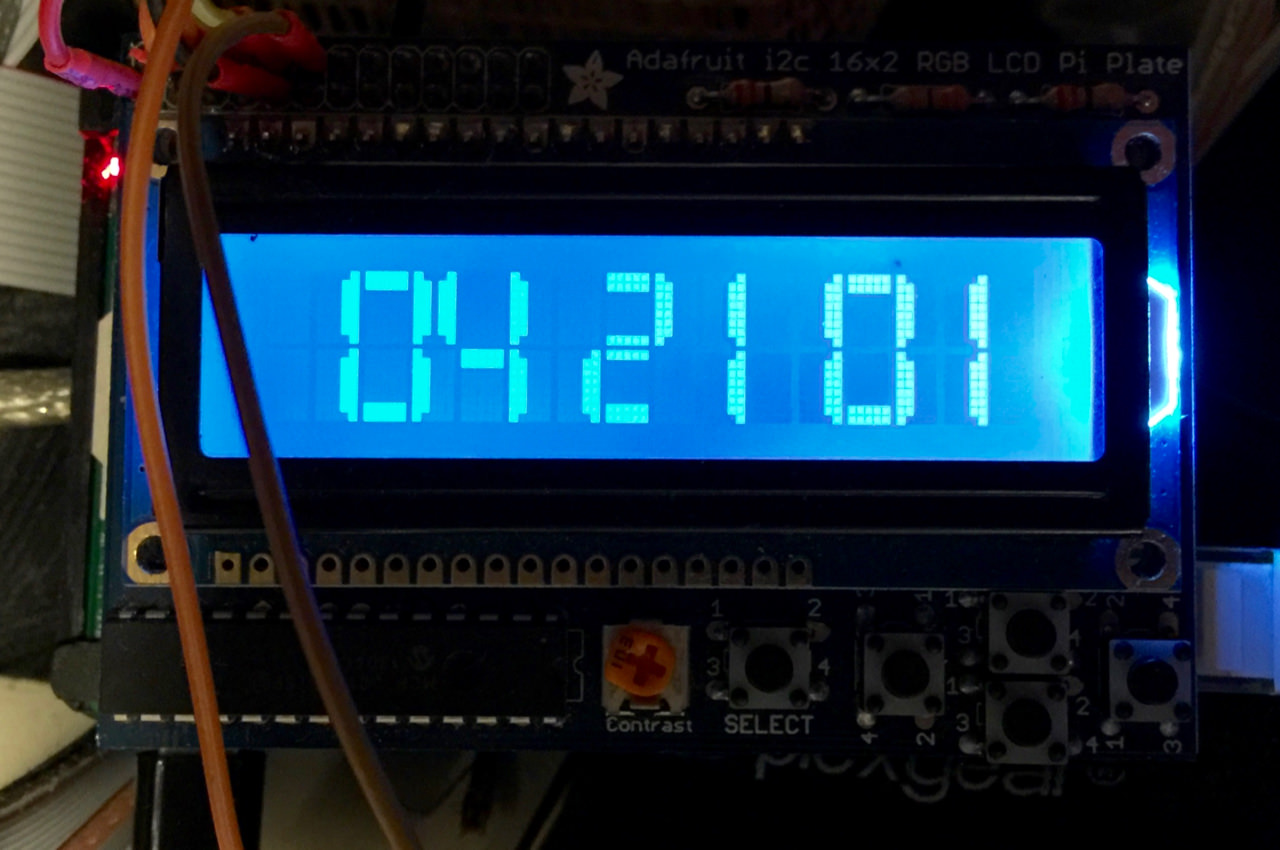 Big Clock LCD Display