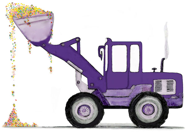 Sparkledriver glitter tractor