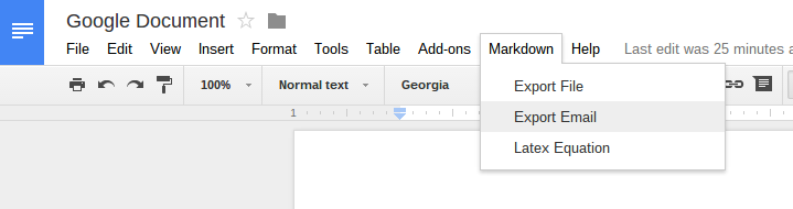 Screenshot Google Docs with gdocs2md