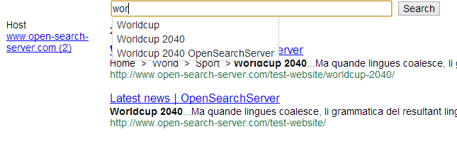OpenSearchServer Documentation - Crawling a website