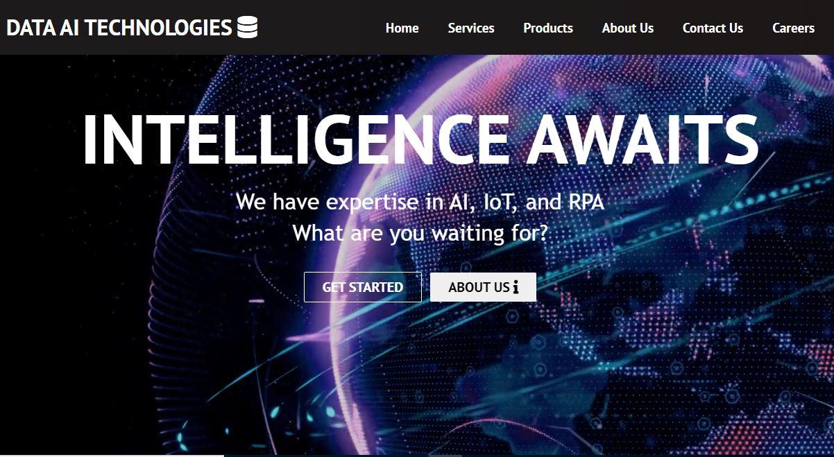 Data AI Technologies Homepage Screenshot