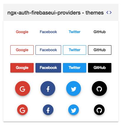 auth providers themes for ngx-auth-firebaseui