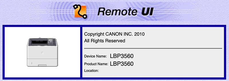 Example: Canon Printers