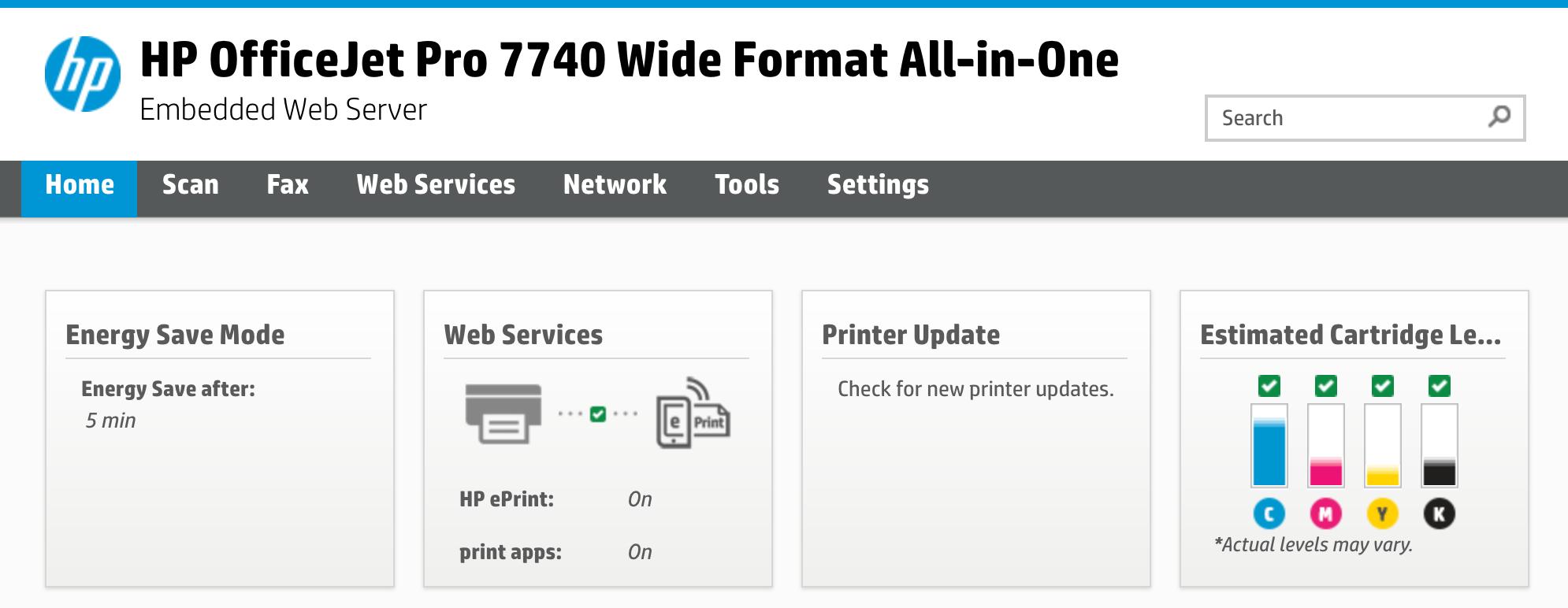 Example: HP Printers