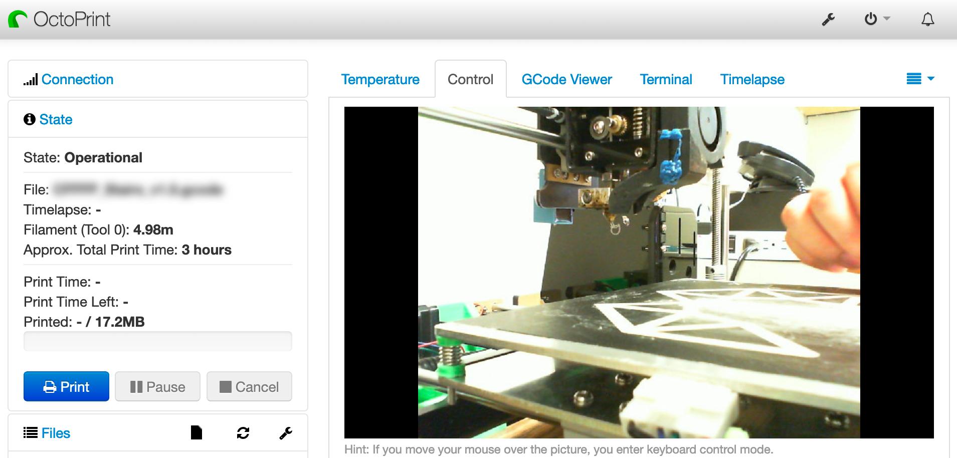 Example: OctoPrint 3D Printers