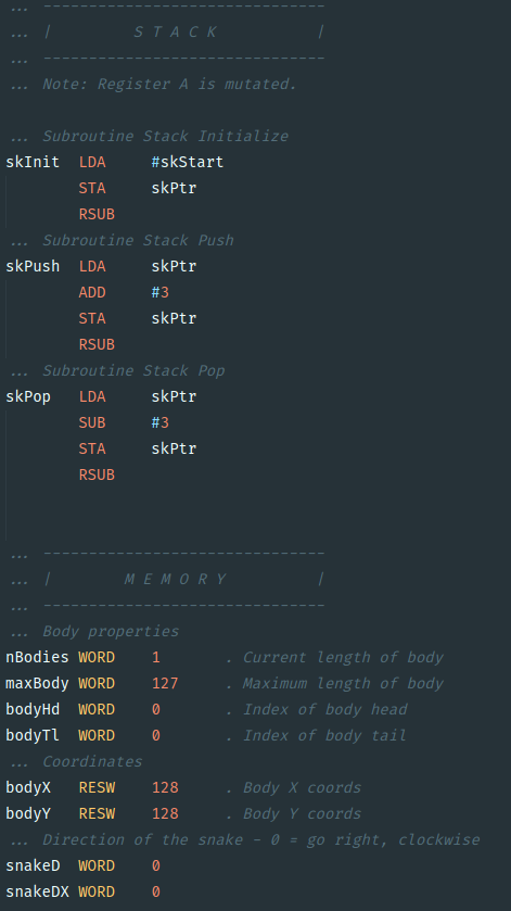 Syntax highlighting example