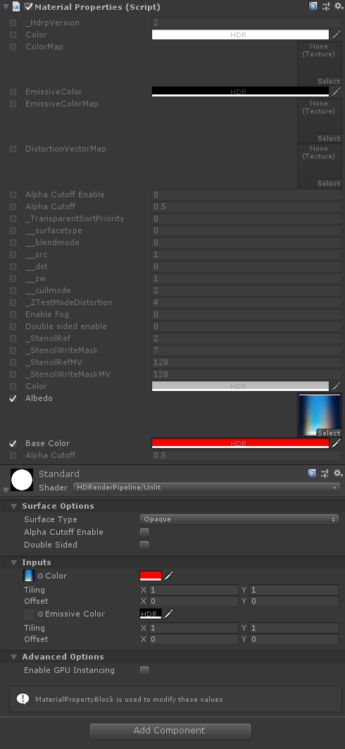Screenshot of the editor in Unity
