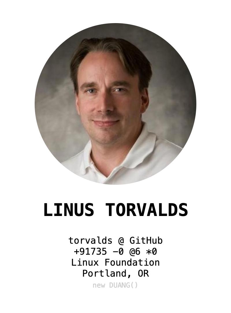 LINUS TORVALDS @ DUANG
