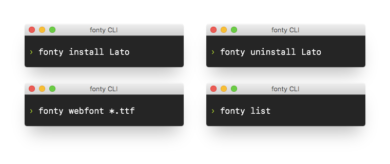 GitHub - jamesssooi/fonty: A CLI tool for installing