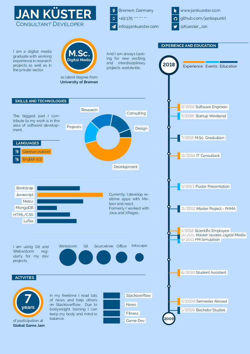 Infographics CV example preview
