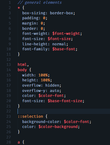 Example css file