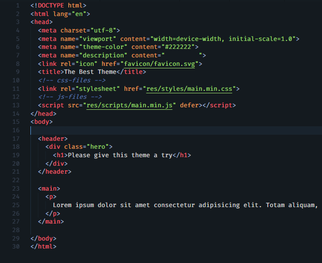 Example html file