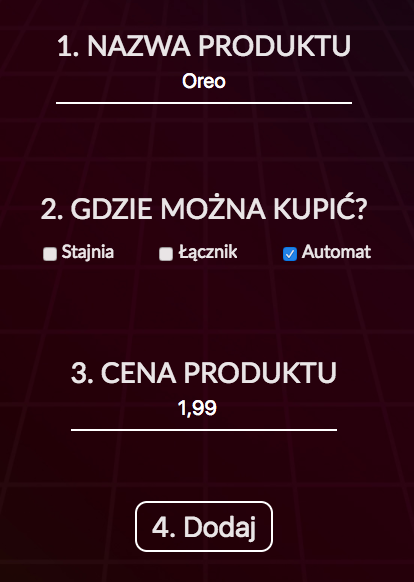 Dodaj nowy produkt
