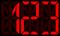Sixteen-segment display
