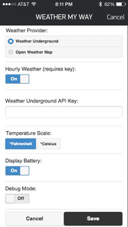 GitHub - mvacha/weather-my-way: A Pebble Watchface using Yahoo