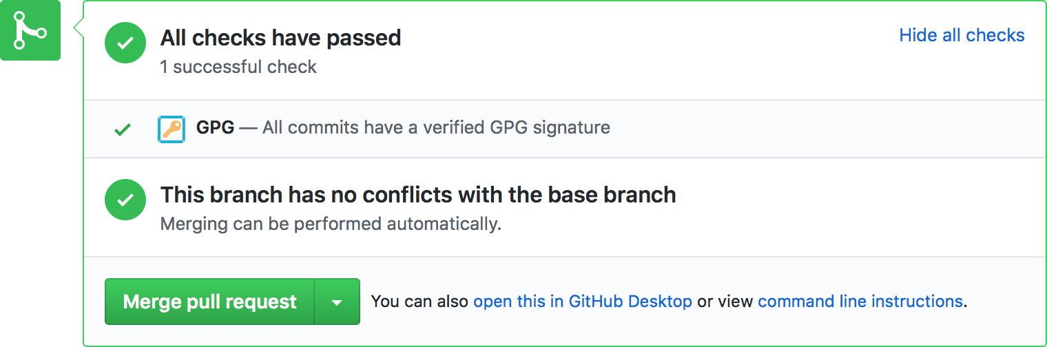 Screenshot of GPG app