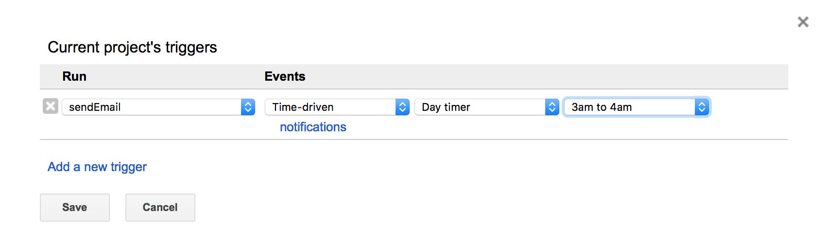 Google App Script - Project Triggers