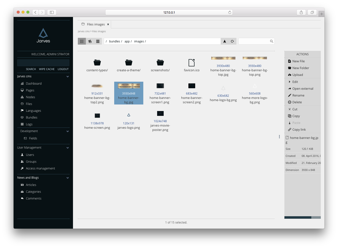Administration File manager