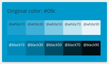 White and Black mixing example