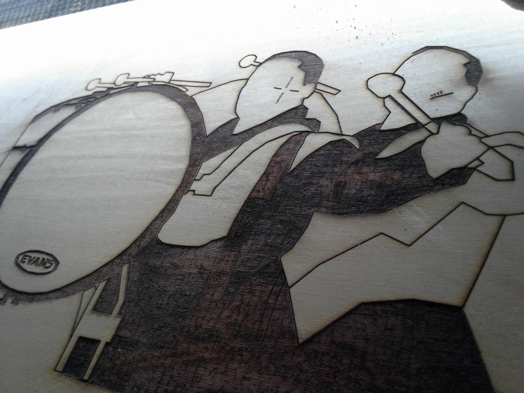 Laser etched image
