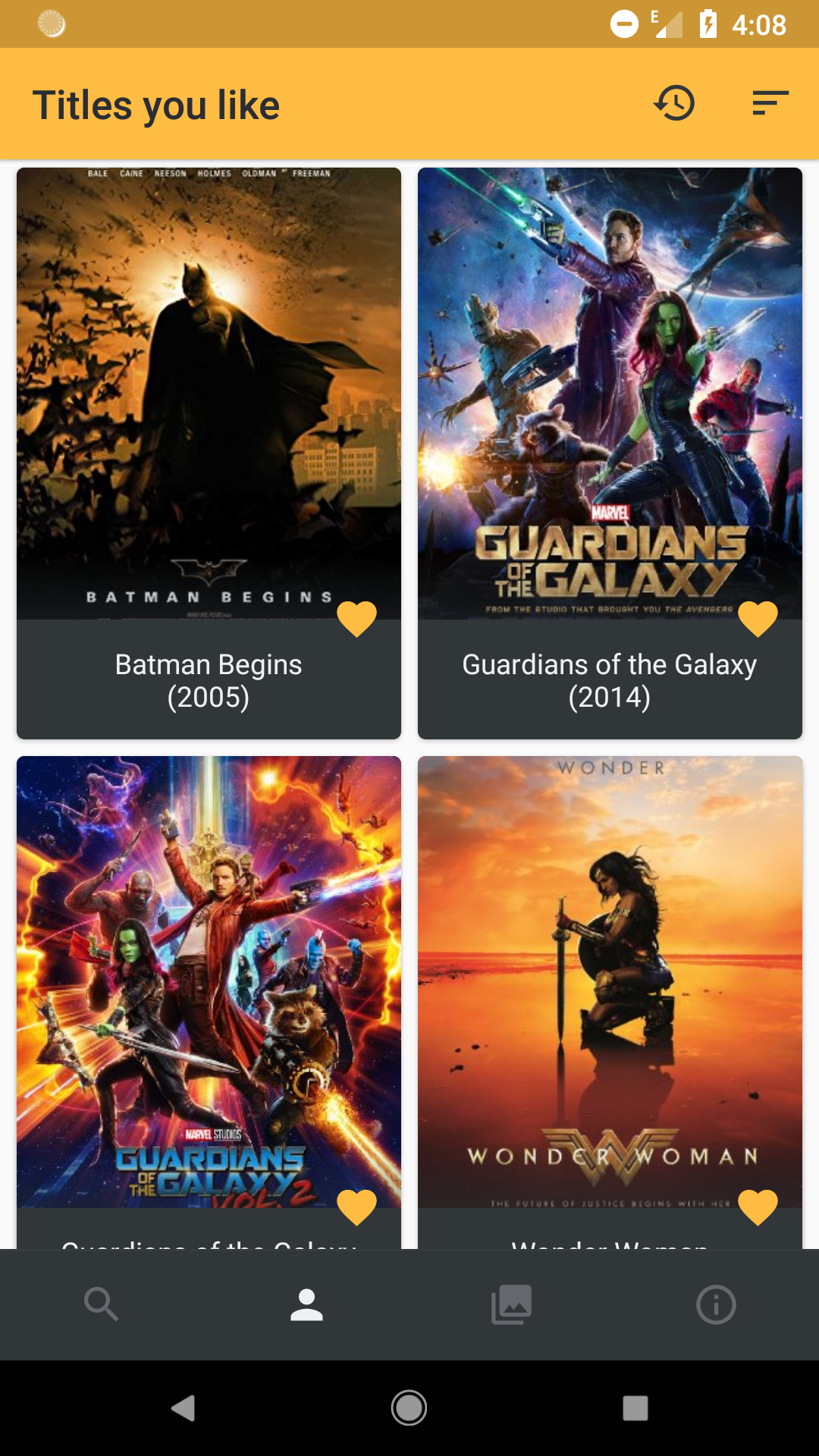 Android app to show movie ratings when browsing Netflix