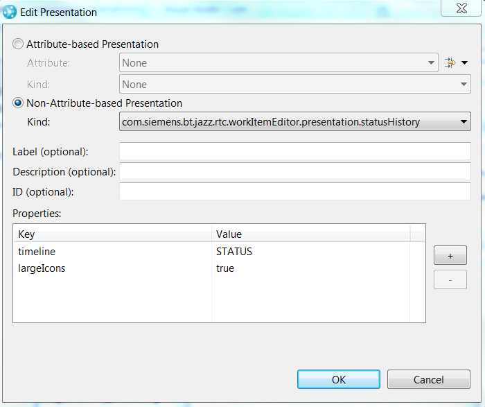 Configure Status History Presentation in Eclipse Client