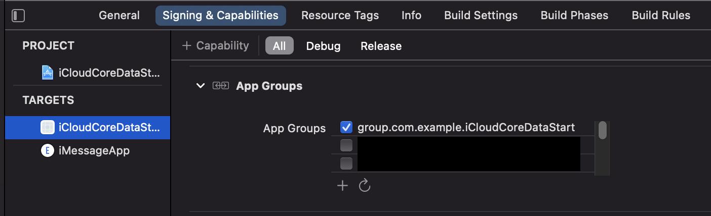 App Group setup