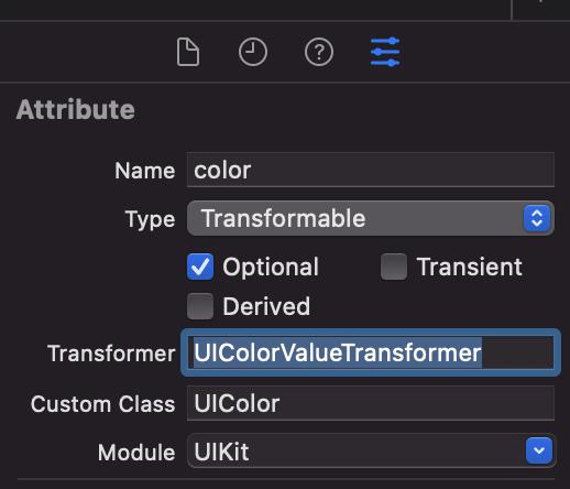 UIColor Value Transformer