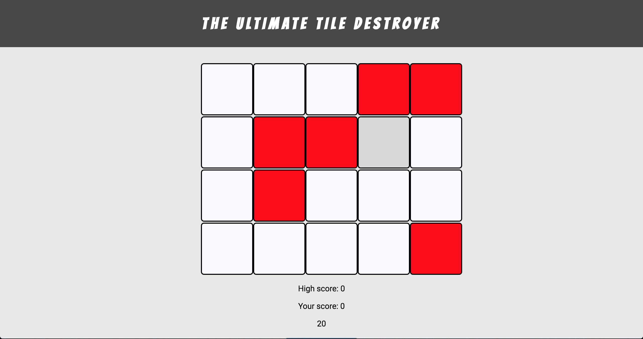 Click the red tiles