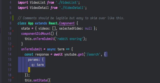 sample Javascript screenshot