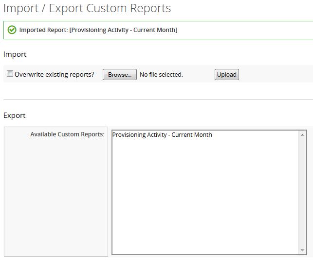 Screen Shot Import Success