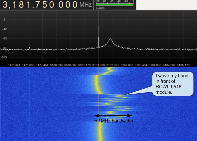 RCWL-0516 spectrum at 3.181GHz