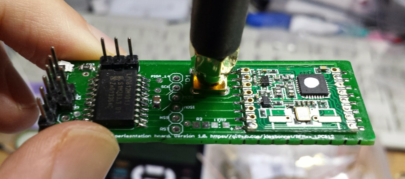 populated RFM69HW version of the PCB