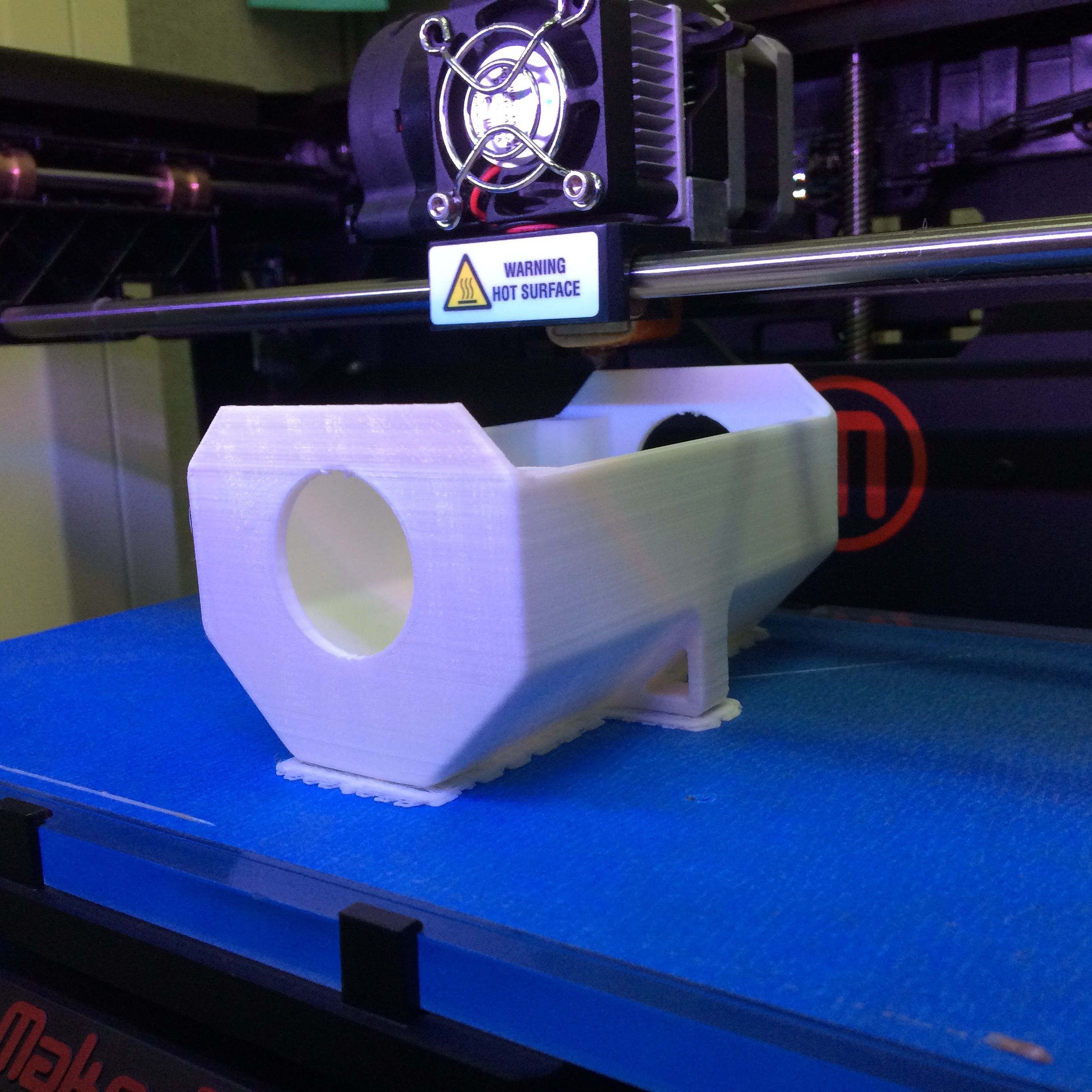 Printing an enclosure on a Makerbot Replicator 2