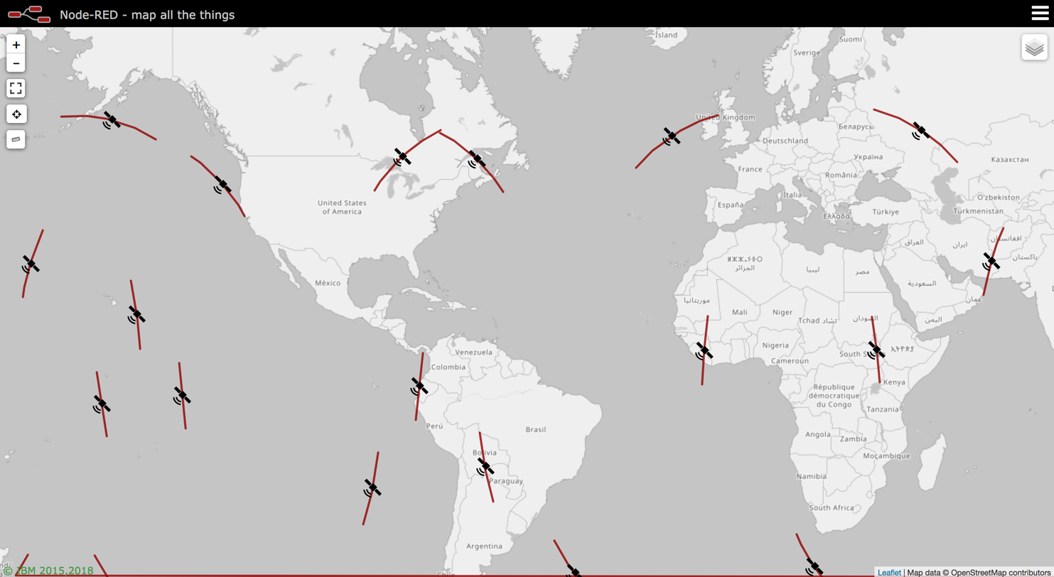 World Map Gps.Node Red Contrib Satellites Node Red