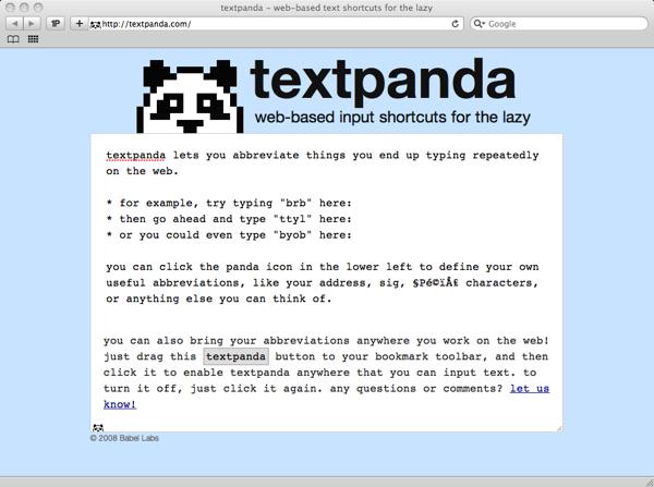 textpanda screenshot