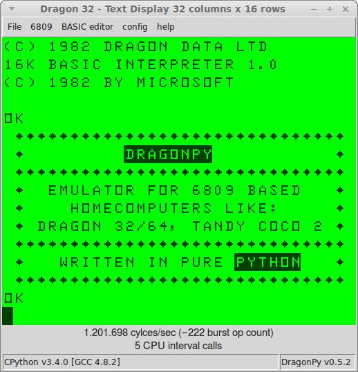 screenshot Dragon 32