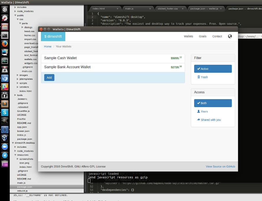 Dimeshift  Desktop