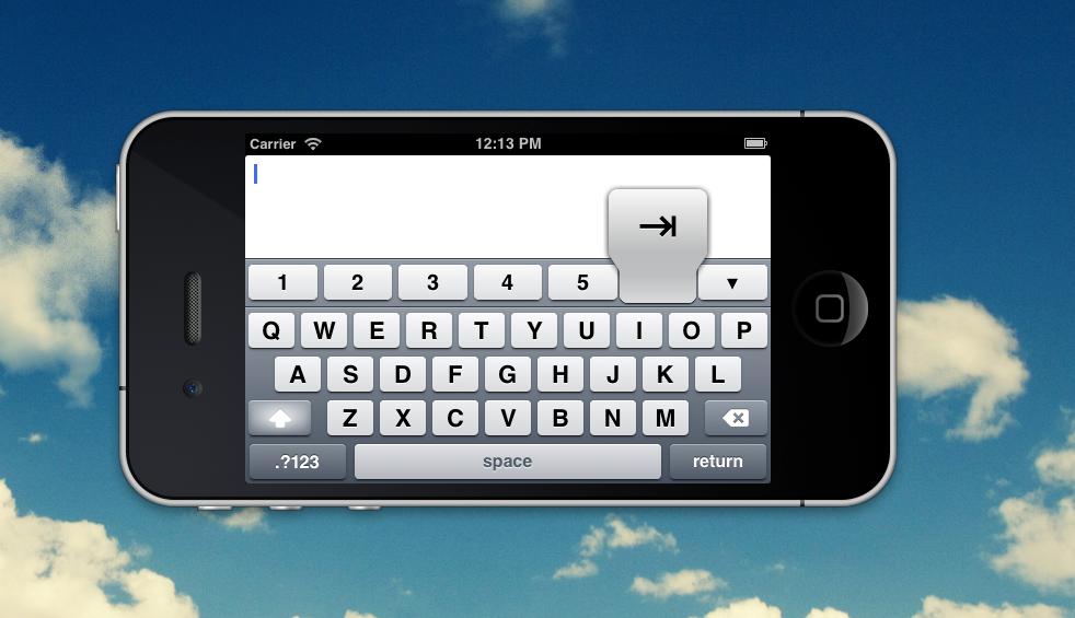 Screenshot in iOS Simulator