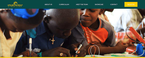 A screenshot of the UNILAG Consult Cyber Camp website